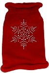 Snowflake Rhinestone Knit Pet Sweater XXL Red